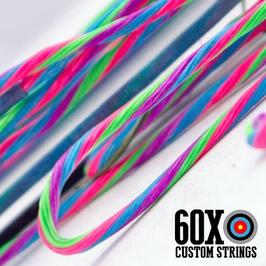 60X BCY X 4 Color Custom Compound Bow String & Cable Package. Full set of custom made compound bow strings and cables for your bow.