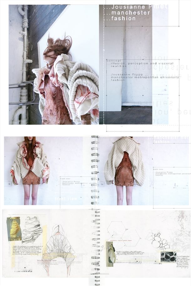 Jousianne Propp - I am what I am ¦ am I what am I? Fashion & Textiles design development & sketchbook work