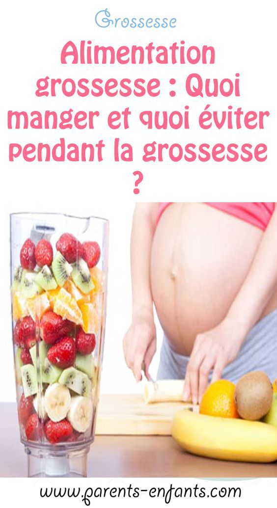 femme enceinte quoi manger