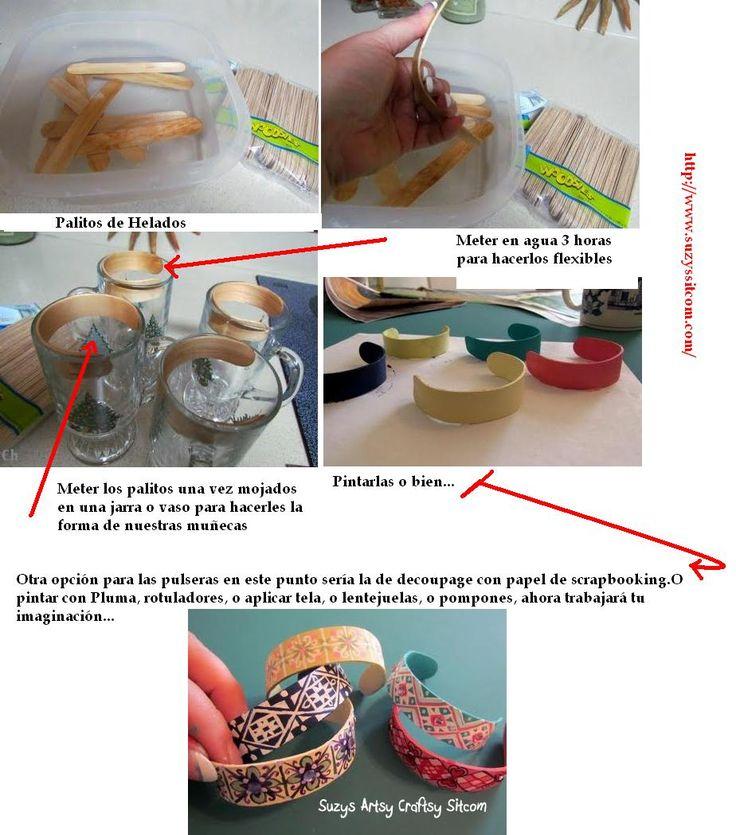 en-rHed-ando: Como hacer Pulseras de Madera con Palitos de Helados Paso a Paso
