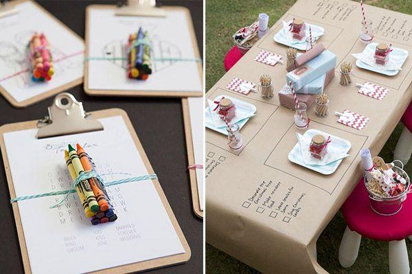 ¿Muchos niños en la boda? Contrata los servicios de animación de alguna empresa para que les entretenga con actividades y talleres.