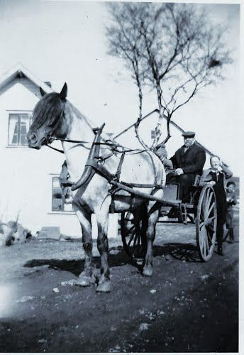 Old photo. This is my great grandfather Ådne Søyland at Tjessheim.
