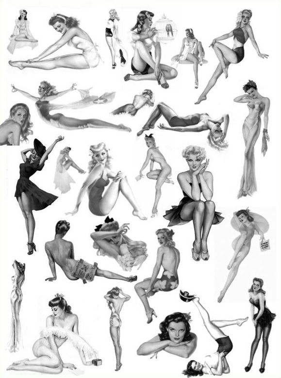 Alberto Vargas pin up girl examples Classic pin up poses are not trashy...