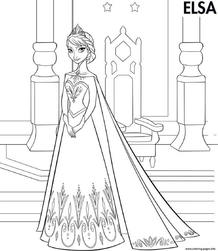 Elsa Frozen Coloring Pages Printable And Book To Print For Free Find More Online Kids Adults Of