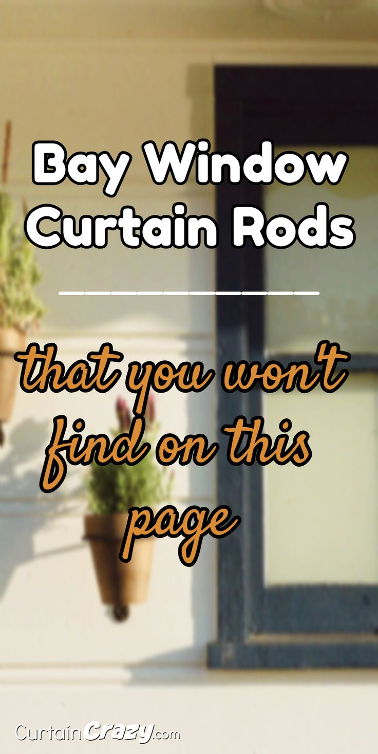 47 best bay window curtain rods images on pinterest curtains bay window curtain rods that you won t find on this page
