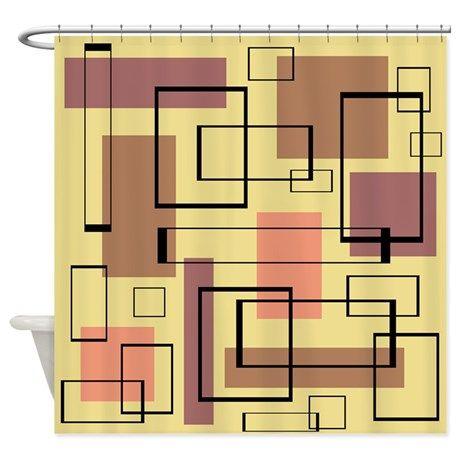 Retro Mid Century Shower Curtain