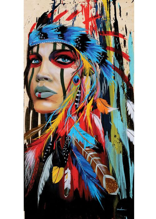 Modern Native American Girl by Driver1 on Etsy, $25.00
