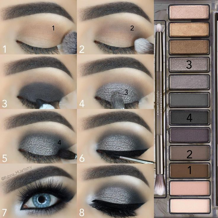 Urban Decay Naked Smokey Palette Tutorial
