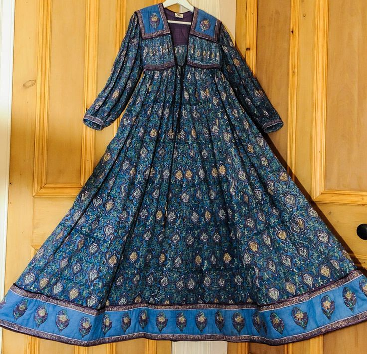 Vintage Anokhi Indian Cotton Gauze Semi Sheer Hippy Boho Maxi Dress S/M 8/10/12 £310.00