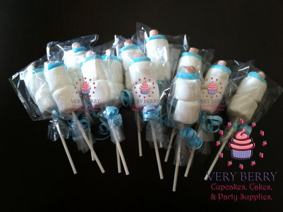 25 Baby Bottle Marshmallow Pops By Veryberryparty On Etsy