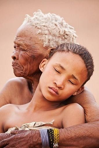 Namibia--these faces remind me that the world's original people came from this region and the great migration started here. Look at the girl's face--she has something from every region of the world in her features.