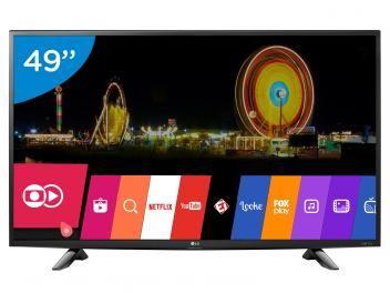 "#AgoraOuNuncaVemVer! Smart TV LED 49"" 4K LG 49UH6100 Ultra HD - Conversor Integrado 3 HDMI 1 USB Wi-Fi"