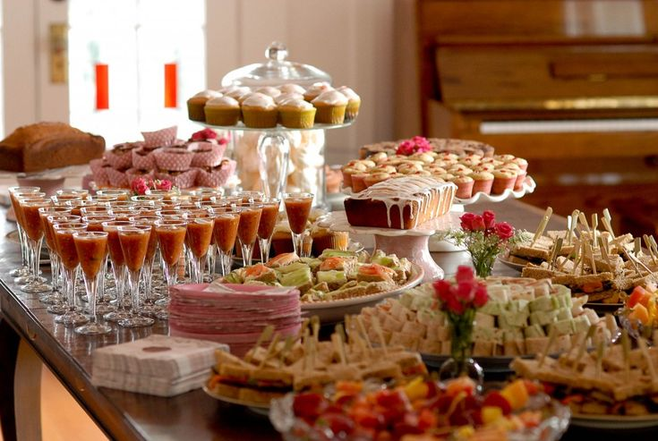 Amusing Buffet Table Decorating Ideas With Best Arranged Deserts And Charming Glass Topped Table Design Ideas: Creating Cute Designing Buffet Table Decorating Ideas for Your Home ~ curliqplus.com Apartment Inspiration