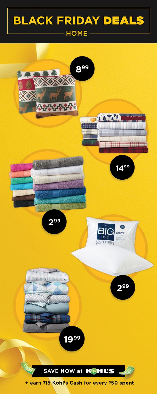 Find Black Friday Deals On Home Goods At Kohl S Now Through 11 23