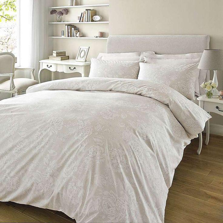 Twiggy Jasmine Natural Bed Linen Collection | Dunelm