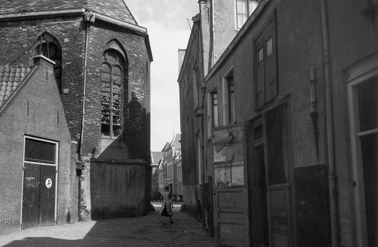 Utrecht - Kleine Geertekerkhof - 1942 - fotograaf Nico Jesse