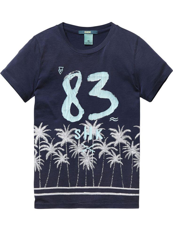 Surfy T-shirt |T-shirt s/s|Jongenskleding bij Scotch & Soda
