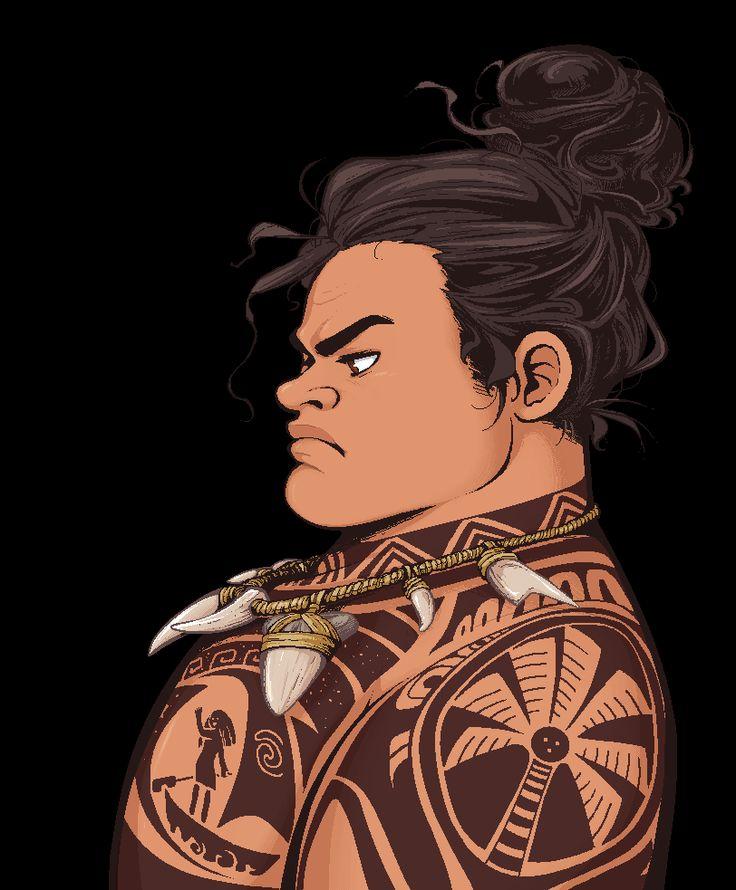 Maui - Serious Hair Bun [Moana] by Skydrathik