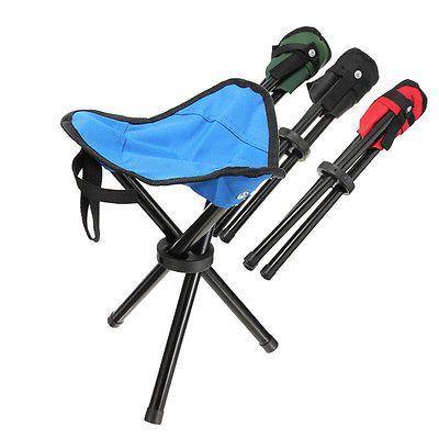 Portable Folding Outdoor Camping Hiking Fishing Picnic Stool Tripod Chair Seat