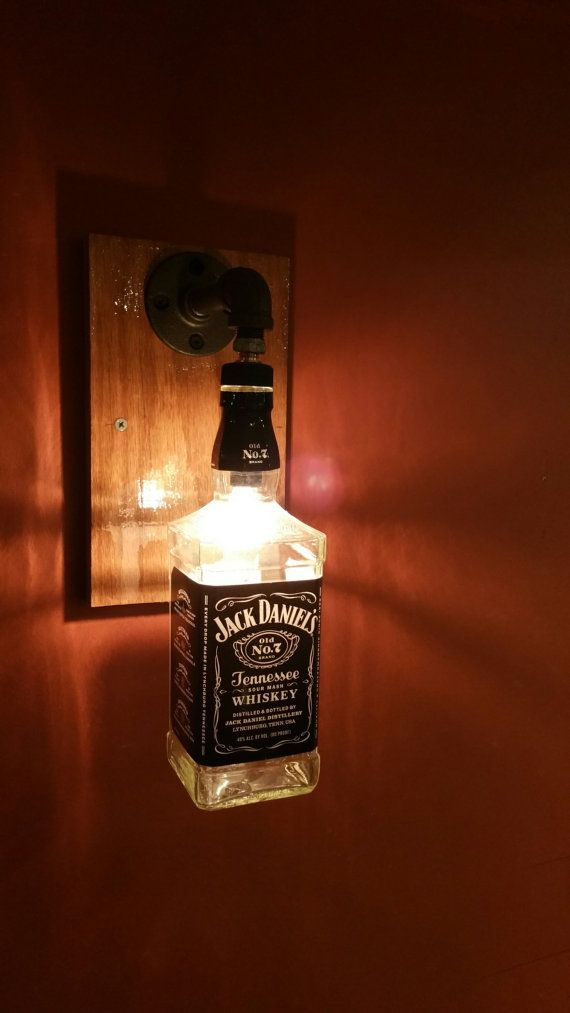 Jack Daniel's Liquor Bottle Wall Sconce by KLiquorlights on Etsy