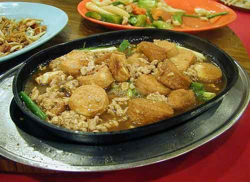 Sizzling Tofu in Oyster Sauce 鐵板豆腐,蠔油