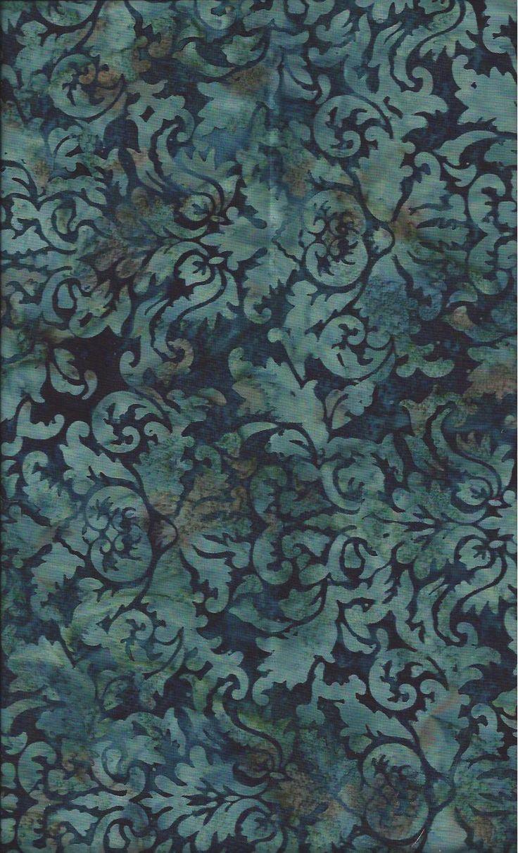 Hoffman Bali Brocade Teal J2399 21