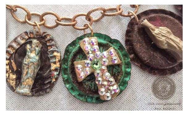 How to Make a Bottle Cap Milagros Charm Bracelet