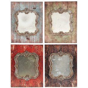 James Mirrored Wall Decor (Set of 4)