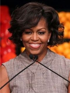 New Arrival Michelle Obama Hairstyle Short Big Curly Glueless Lace Front Wig 100% Human Hair about 10 Inches Item # W4629  Original Price: $600.00 Latest Price: $168.49