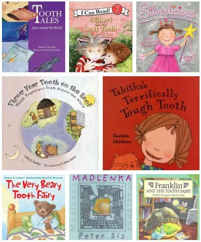 Tooth Fairy Books for First Time Donors. | Do you know someone that has lost their first tooth, is wondering about their first loose tooth, or has questions about the Tooth Fairy and related mythology? Here are a selection of picturebooks that explore this wiggly issue…