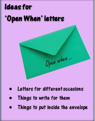 ideas for open when letters