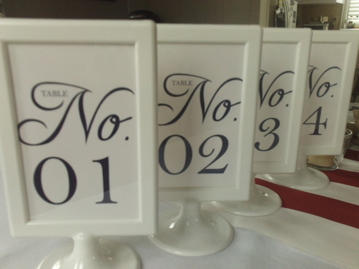 12 elegant pedestal frame wedding table numbers