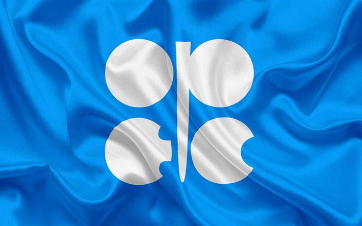 Download wallpapers Flag of OPEC, Organization of the Petroleum Exporting Countries, international organization, oil, oil production