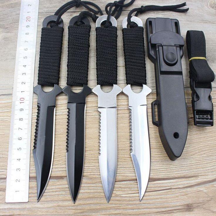 1 개 고품질의 스테인레스 스틸 생존 나이프 고정 블레이드 나이프 야외 캠핑 포켓 나이프 다이빙 Kinfe 사냥 칼