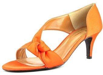 J. Renee Jaynnie Women Open Toe Canvas Orange Sandals.