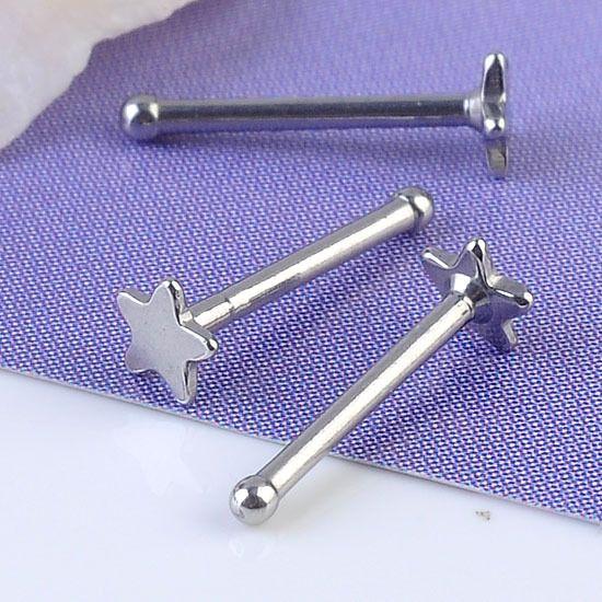 пирсинг в нос10x 20Ga звезда нос кольцо из кости бар шпильки из нержавеющей стали панк ювелирные изделия пирсинг новый пирсинг в нос