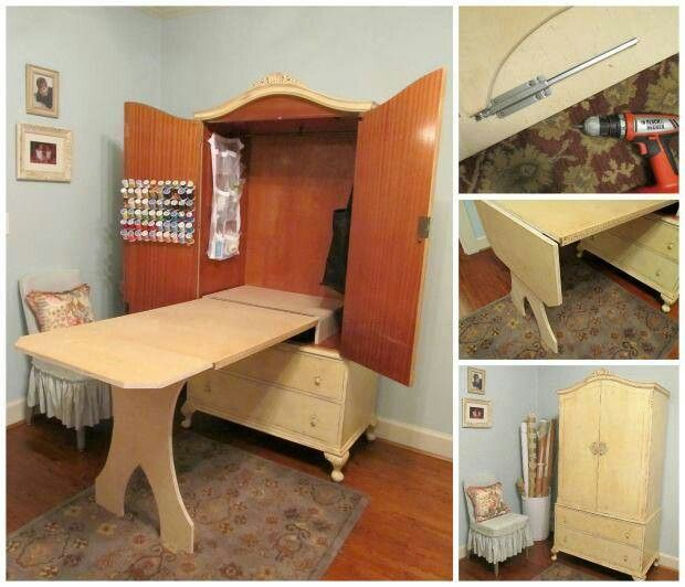 craft sewing table home pinterest