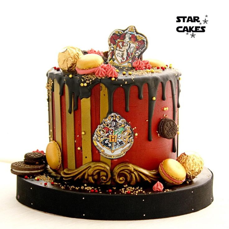 Harry Potter Gryffindor Drip Cake Cake By Star Cakes
