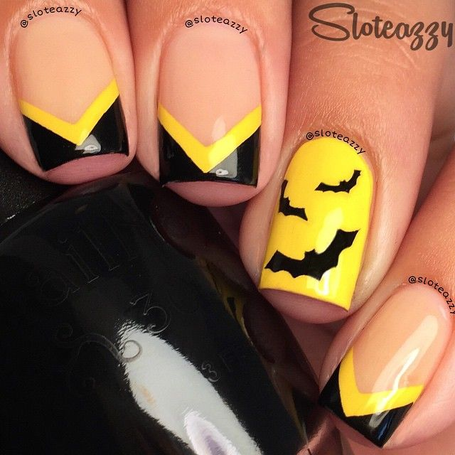 Instagram media sloteazzy -   batman #nail #nails #nailart