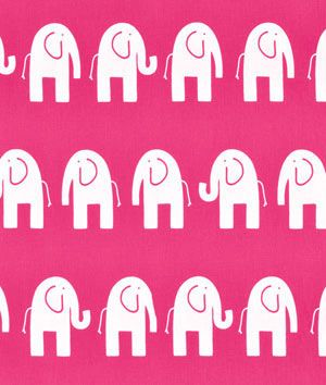 Premier Prints Ele Candy Pink/White Fabric