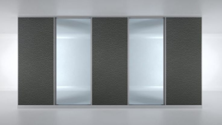 Two of the central 50mm panels are replaced with Frameless Glass panels. Flexible and interchangeable, Able's Movable Walling Systems are designed for modern work and life space.