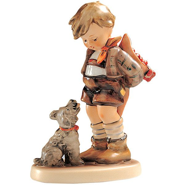 Hummel Not for You Hummel Figurine ($180) ❤ liked on Polyvore featuring home, home decor, porcelain figurines, hummel, hummel figurines, puppy figurines and porcelain dog figurines