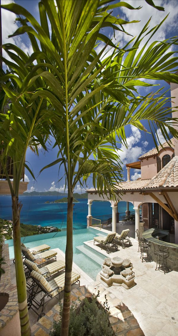 Backyard at Villa Carlota...St. John, U.S. Virgin Islands.
