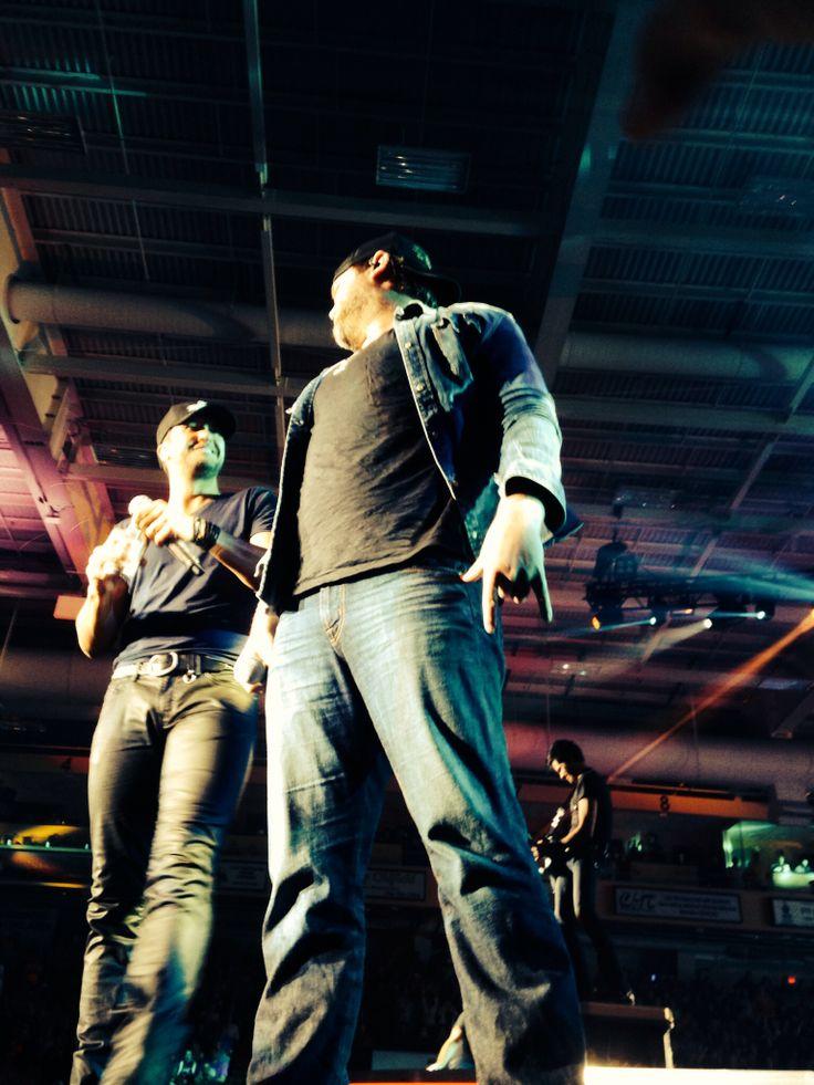 Luke Bryan and Lee Brice :)