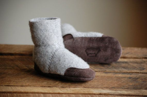 felted wool baby slippers