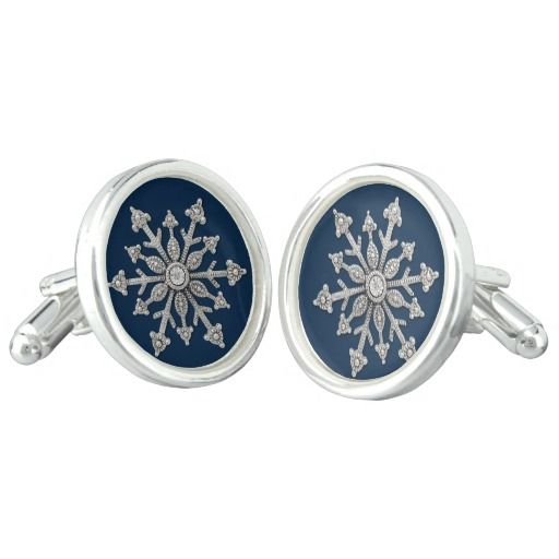 Winter Wedding Snowflake Cuff Links