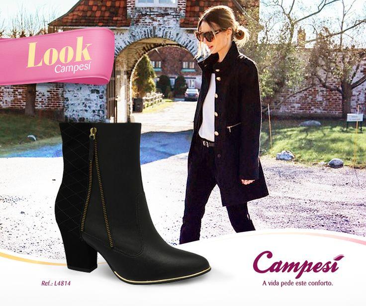 Uma das nossas coisas favoritas do inverno é a possibilidade de montar looks maravilhosos com botas! Afinal, nem sempre o verão nos permite usá-las. Mate a sua saudade das botinhas com este lançamento da Campesí! #confortoCampesí