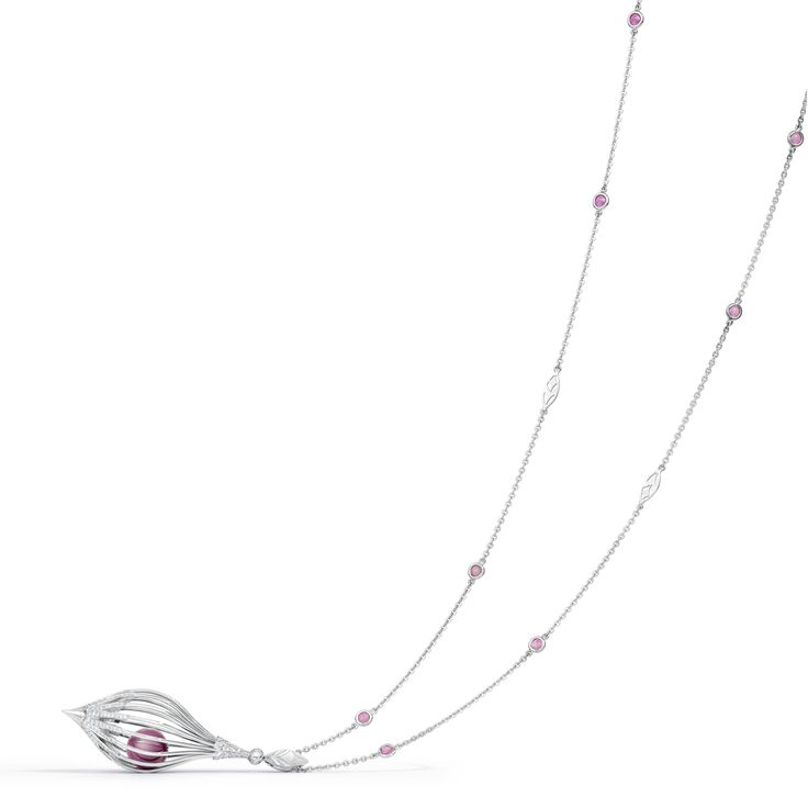 The Lantern Necklace - Ruby, The Birthstone for July. Create your own Lantern Necklace. Fairfax & Roberts