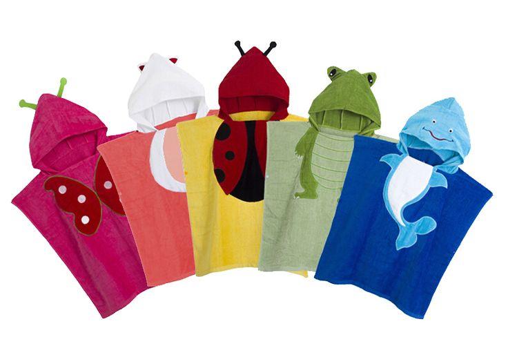 Retail-5 Couleurs Bébé À Capuche Poncho enfants serviette de bain/Animal Modélisation Piscine peignoir/Enfants de Serviette De Plage(China (Mainland))