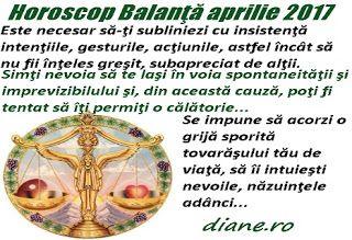 Horoscop aprilie 2017 Balanţă